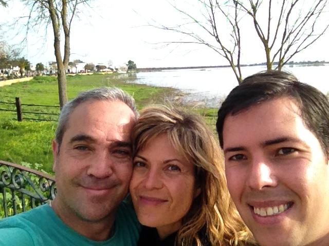 Ana Alejos, Jose María Lujan y Carlos Pérez Villa